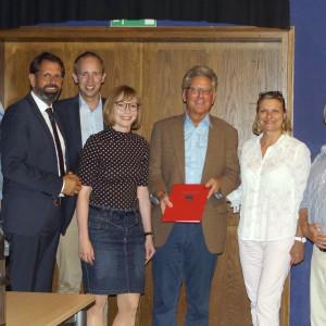 Bernd Ellberg für 25 Jahre Mitgliedschaft geehrt - Gruppenfoto mit den Laudatoren