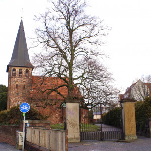 Blick auf den Gertrudenfriedhof.